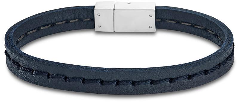 Lotus Style Tmavo modrý kožený náramok LS1812-2 / 1