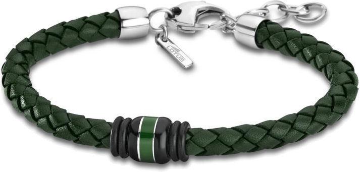 Lotus Style Zelený kožený náramek LS1814-2/3