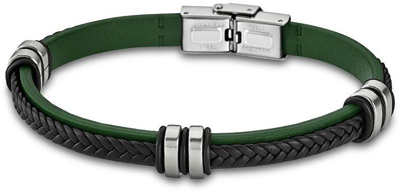 Lotus Style Zelený kožený náramek LS1829-2/2