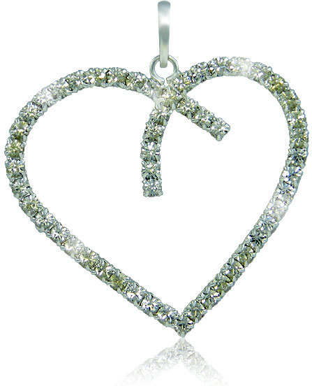 MHM Náhrdelník Srdce Crystal 3194 (řetízek, přívěsek)