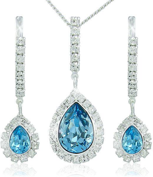 MHM Súprava šperkov Avril Aquamarine 3498