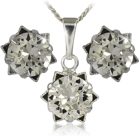 MHM Súprava šperkov Daisy 34196 (náušnice, retiazka, prívesok)