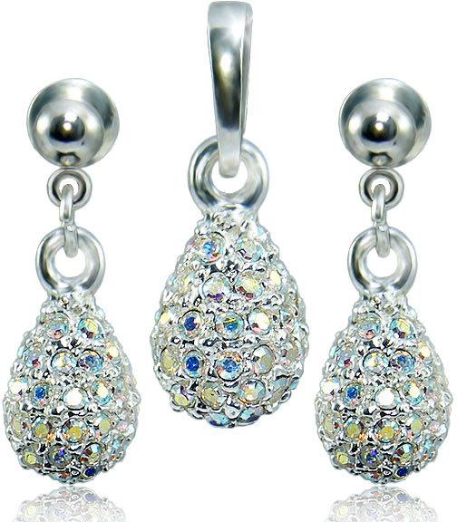 MHM Súprava šperkov Kvapka M4 Crystal AB 3484