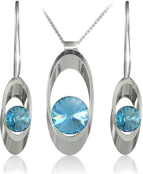 MHM Souprava šperků Karen Aquamarine 34153