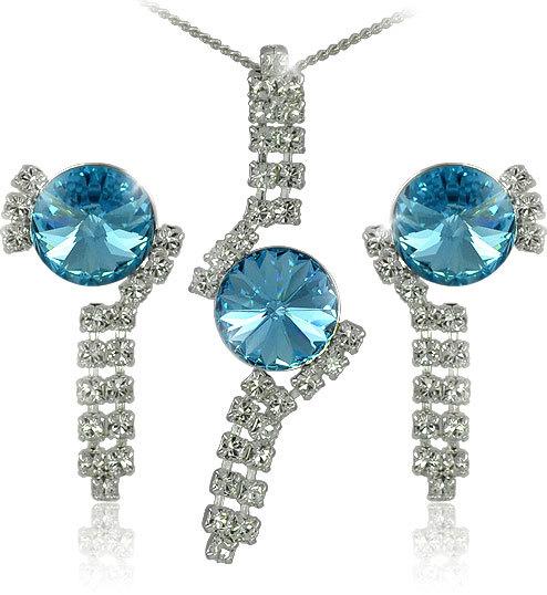 MHM Súprava šperkov Rivoli Aquamarine 34139