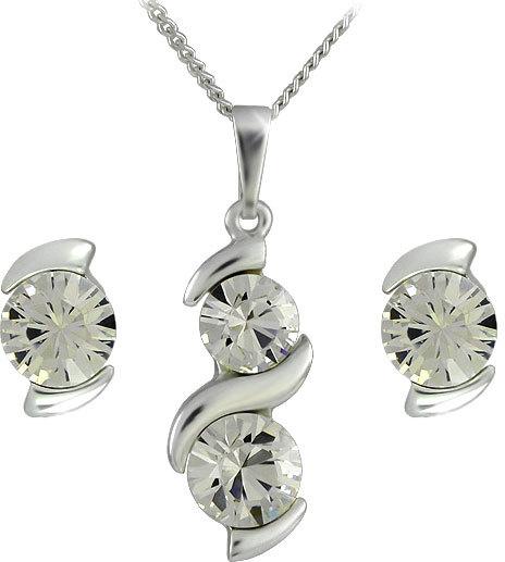 MHM Súprava šperkov Sisi Crystal 34146 (náušnice, retiazka, prívesok)