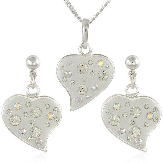 MHM Súprava šperkov Srdce M6 Crystal 34173