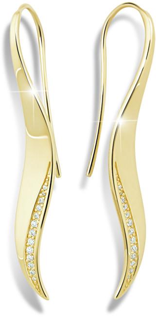 Modesi Elegantní pozlacené náušnice ze stříbra M26004