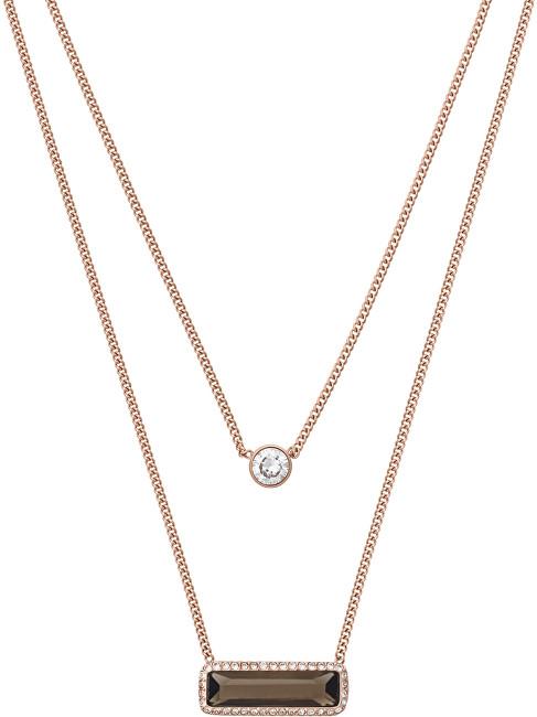 Michael Kors Bronzový vrstvený náhrdelník s přívěsky MKJ5824791