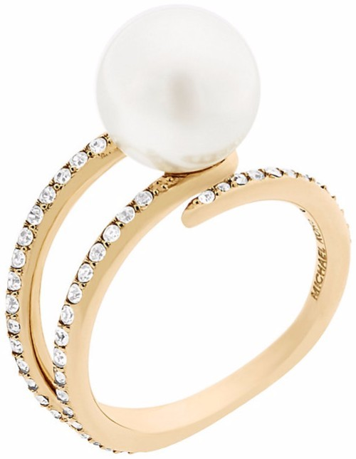 2d35062d4e7c Michael Kors Dámsky prsteň s korálikom a kryštály MKJ6313710 58 mm