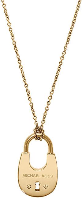 Michael Kors Dlouhý pozlacený náhrdelník se zámkem MKJ4633710