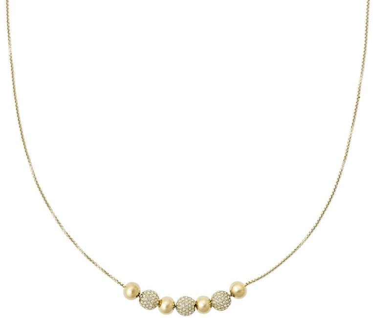 Michael Kors Jemný pozlacený náhrdelník s krystaly MKJ5522710