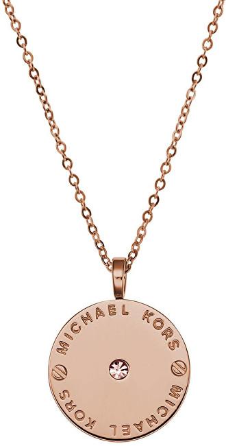 Michael Kors Jemný pozlacený náhrdelník z oceli MKJ2656791