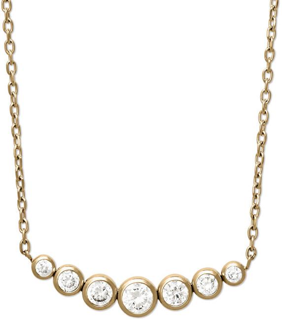 Michael Kors Jemný pozlacený náhrdelník z oceli s krystaly MKJ4952710