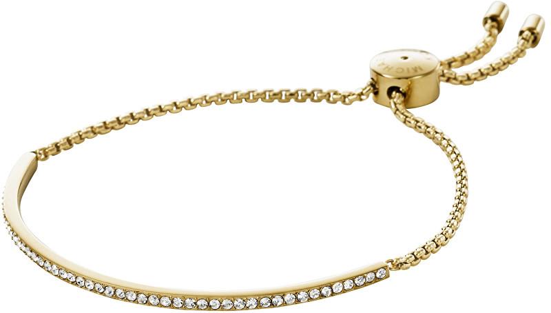Michael Kors Jemný zlatý náramek s čirými krystaly MKJ4130710