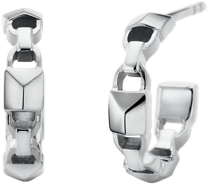 Michael Kors Kruhové stříbrné náušnice MKC1013AA040