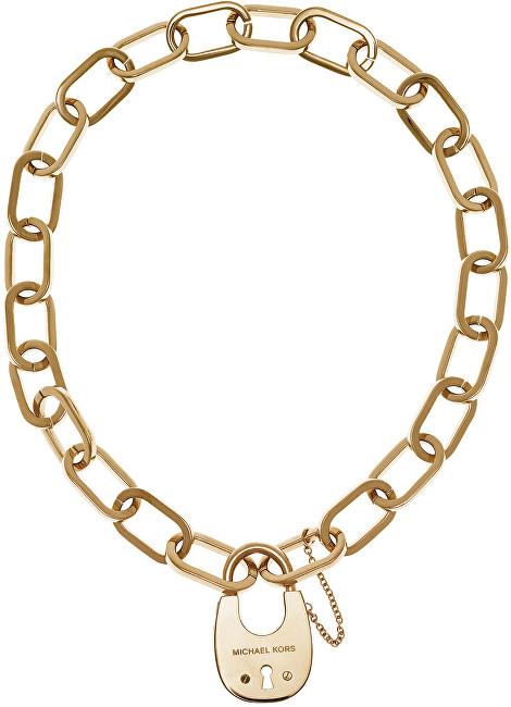 Michael Kors Masivní náhrdelník se zámkem MKJ4637710