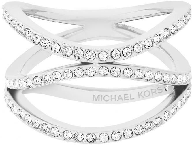 Michael Kors Oceľový oceľový prsteň s kryštálmi MKJ6639040 56 mm