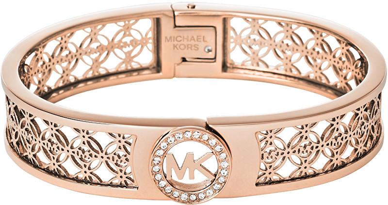 Michael Kors Pevný bronzový náramok s ornamentmi a kryštály MKJ4147791 3f74498937b