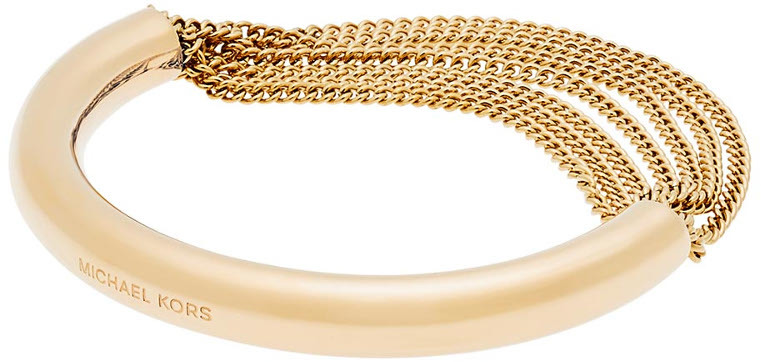 Michael Kors Pevný zlatý náramek s řetízky MKJ5787710
