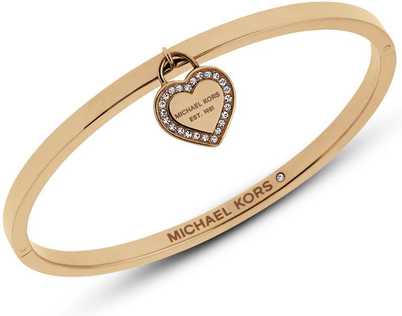 Michael Kors Pevný zlatý náramok so srdcom MKJ5037710 cb8f0b1354c