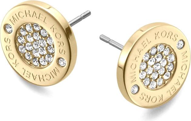 Michael Kors Pozlacené luxusní náušnice s krystaly MKJ3351710