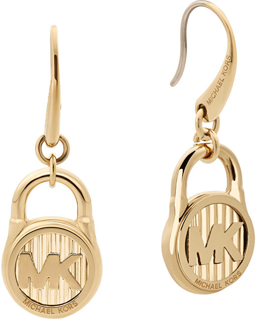 Michael Kors Pozlacené náušnice s logem MKJ6813710