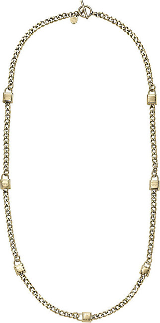 Michael Kors Pozlacený náhrdelník se zámky MKJ3723710