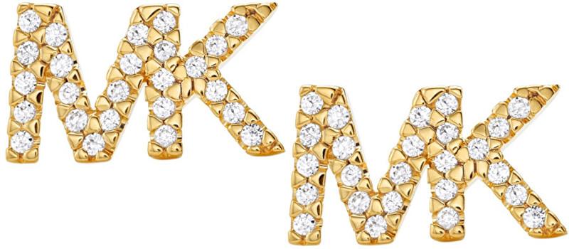Michael Kors Stříbrné náušnice s logem MKC1256AN710