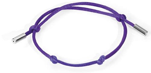 Morellato Fialový saténový náhrdelník Drops CZ007
