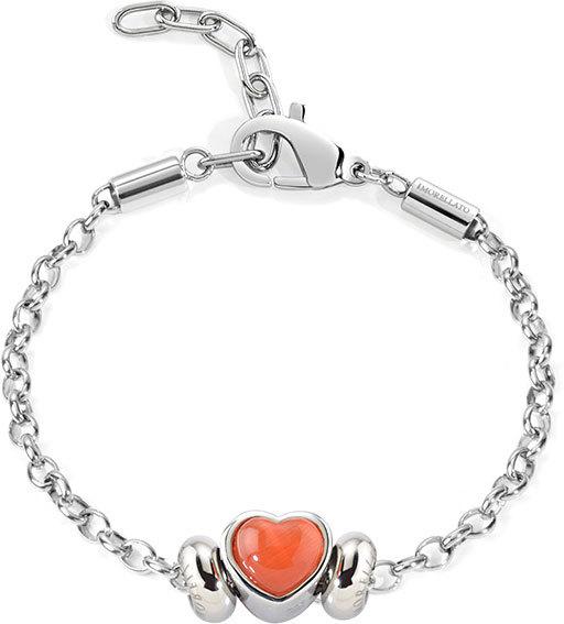 Morellato Ocelový náramek Drops Red Heart SCZ450