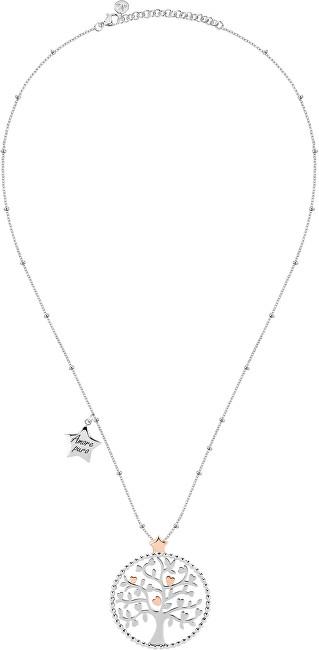 Morellato Oceľový náhrdelník Green Tree of Life talizmanov SAQE11