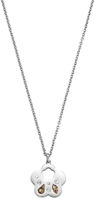 Morellato Ocelový náhrdelník s kytičkou Allegra SAKR03