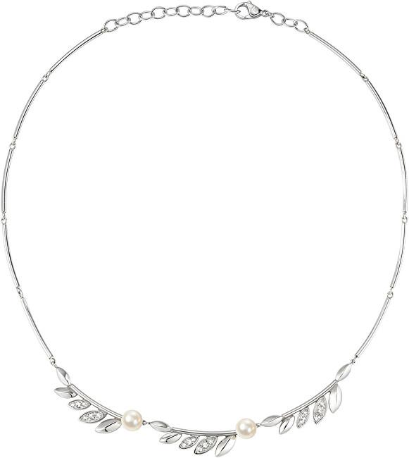 Morellato Ocelový náhrdelník s perlami Gioia SAER16