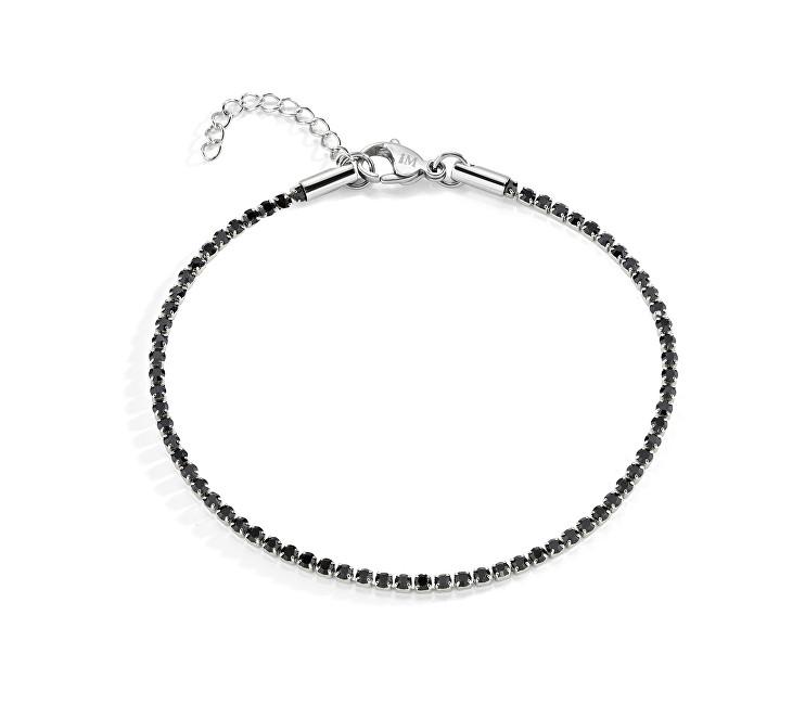 Morellato Ocelový náramek s černými krystaly Cross SAEV16