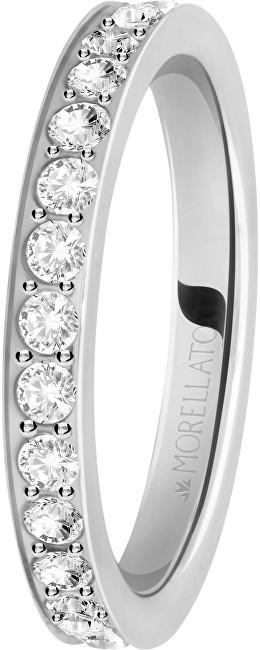 Morellato Ocelový prsten s krystaly Love Rings SNA41 52 mm