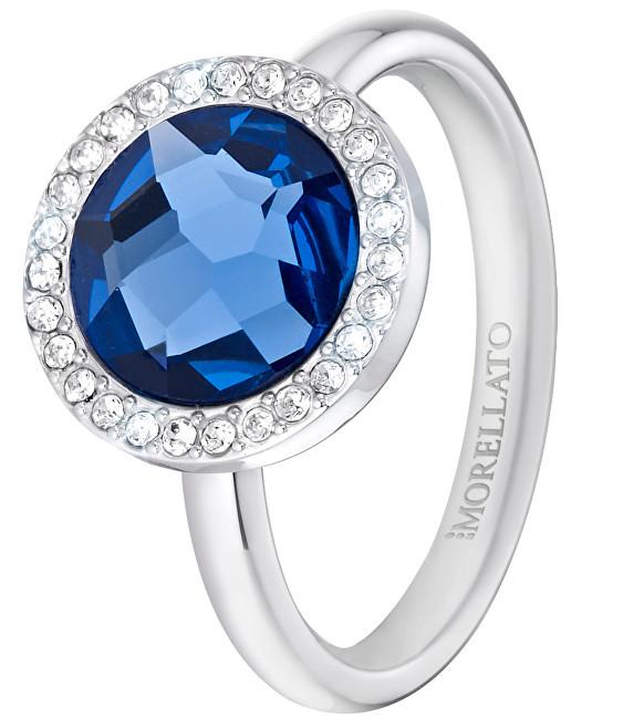 Morellato Oceľový prsteň s modrým kryštálom Essenza SAGX15 54 mm