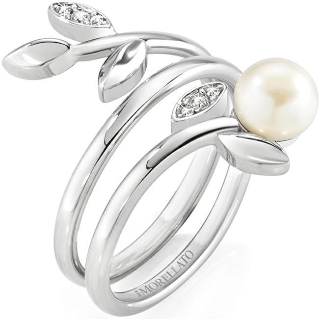 Morellato Ocelový prsten s perlou Gioia SAER26 52 mm