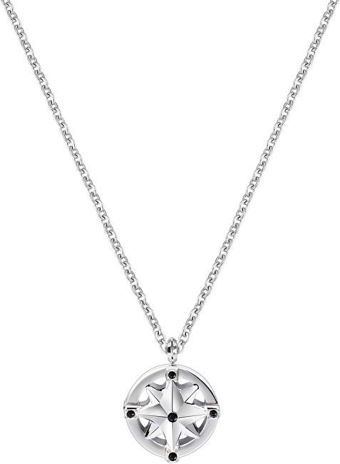 Morellato Pánský ocelový náhrdelník s růžicí Vela SAHC12