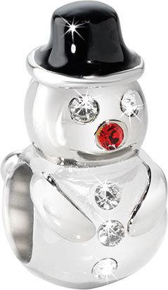 Morellato Ocelový přívěsek Drops Christmas Snowman SCZ296