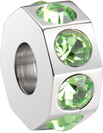 Morellato Oceľový prívesok Drops Green Crystal SCZ189