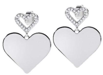 Morellato Romantické stříbrné náušnice Cuori SAIV05