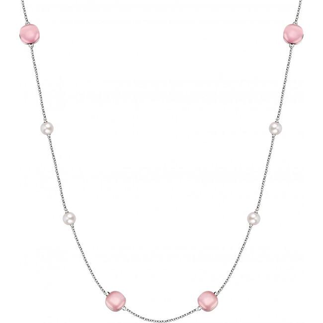Morellato Strieborný náhrdelník s perlami Gemma Perla SATC01