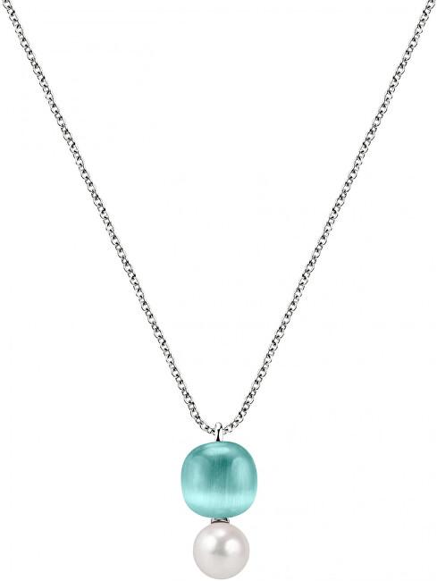 Morellato Strieborný náhrdelník Gemma Perla SATC03 (retiazka, prívesok)