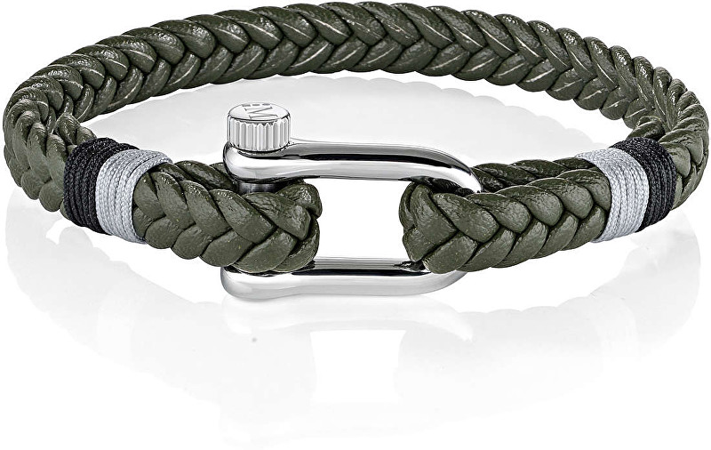 Morellato Zelený pletený náramek Vela SAJC11