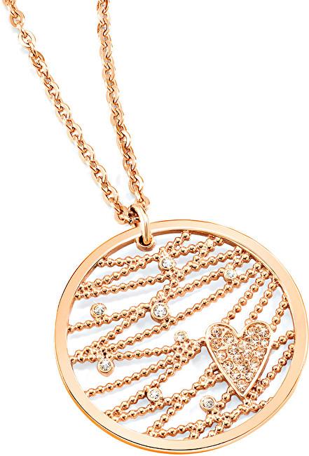Morellato Pozlacený náhrdelník Cuoremio Rose SADA01