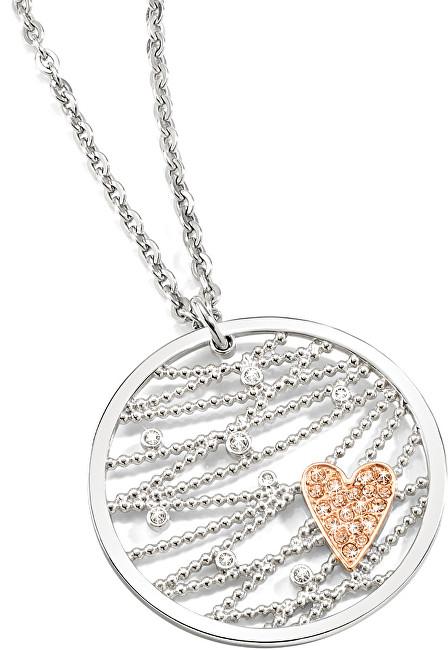 Morellato Ocelový bicolor náhrdelník Cuoremio SADA05