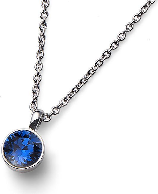 Oliver Weber Náhrdelník s modrým krystalem Ocean Uno 11740 207