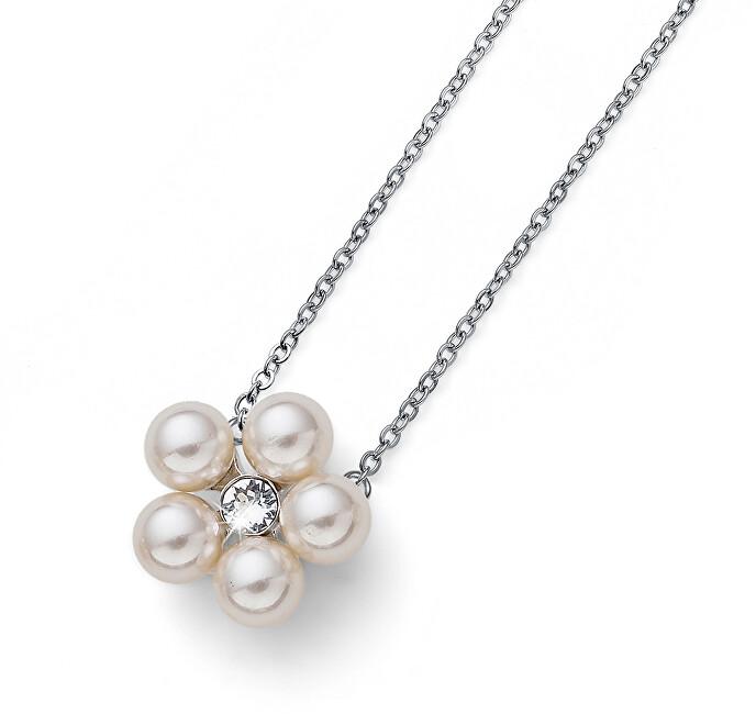 065c0cdd5 Oliver Weber Náhrdelník s perlami a krystalem Flower Pearl 11947
