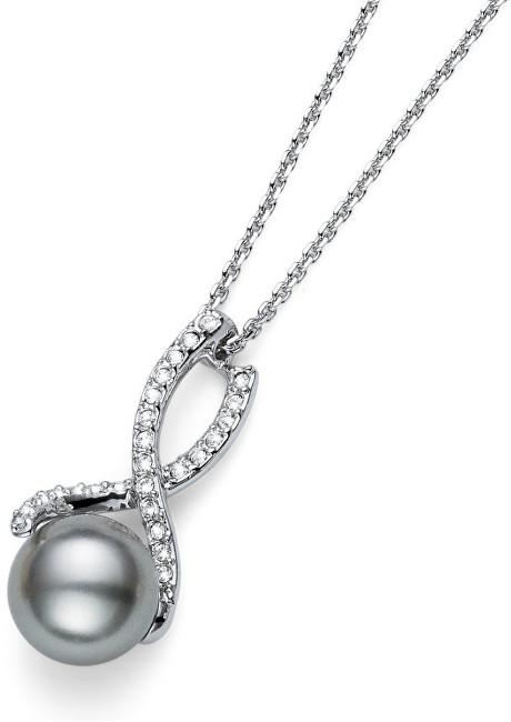 Oliver Weber Náhrdelník s perlou a krystaly Working Wait 11663R